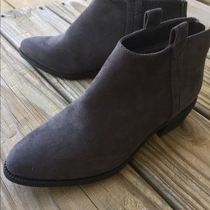Shoes - Gray Leather Booties